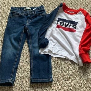 Toddler Levi jean outfit